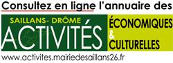 activités économiques Saillans Drôme