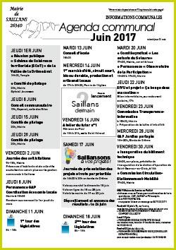 agenda municipal mairie de saillans