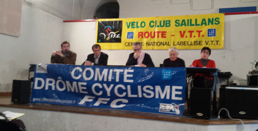 AG  comité drôme cyclisme à Saillans