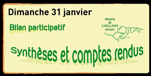bilan participatif synthèses mairie de saillans 2015