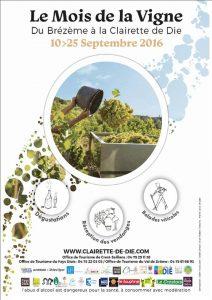 affiche mois de la vigne 2016