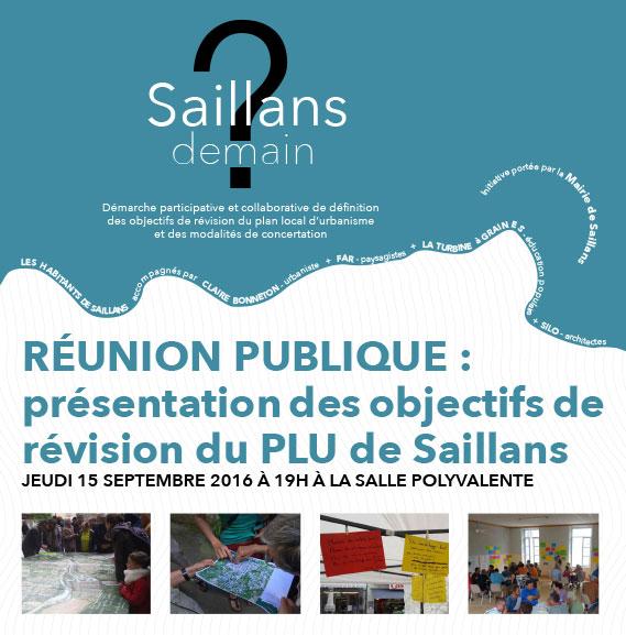 Réunion publique : présentation des objectifs de révision du PLU de Saillans