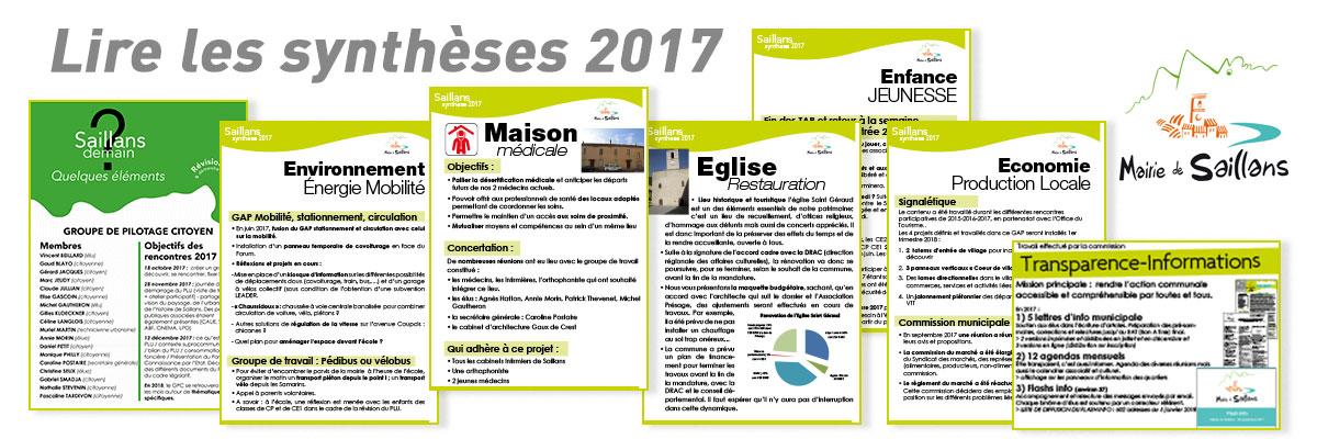 synthèses action communale 2017 mairie de saillans