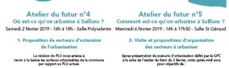 ateliers 4 et 5 révision du PLU Saillans