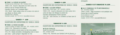 DU 30 MAI AU 16 JUIN, PARCOURS ARTISTIQUE AVEC 45 ARTISTES