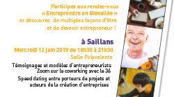 Entreprendre en Biovallée le 12 juin 2019 à Saillans