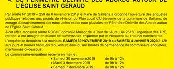 Les enquêtes publiques auront lieu du 30 novembre 2019 au 4 janvier 2020