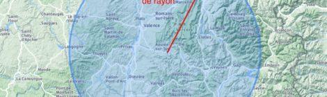 100 km autour de saillans