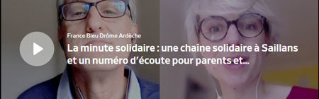 France Bleu : La minute solidaire : la Chaîne solidarité de Saillans et le numéro d'Enfance et Covid-19