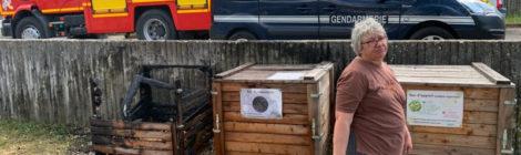 Le bac de compost collectif dégradé